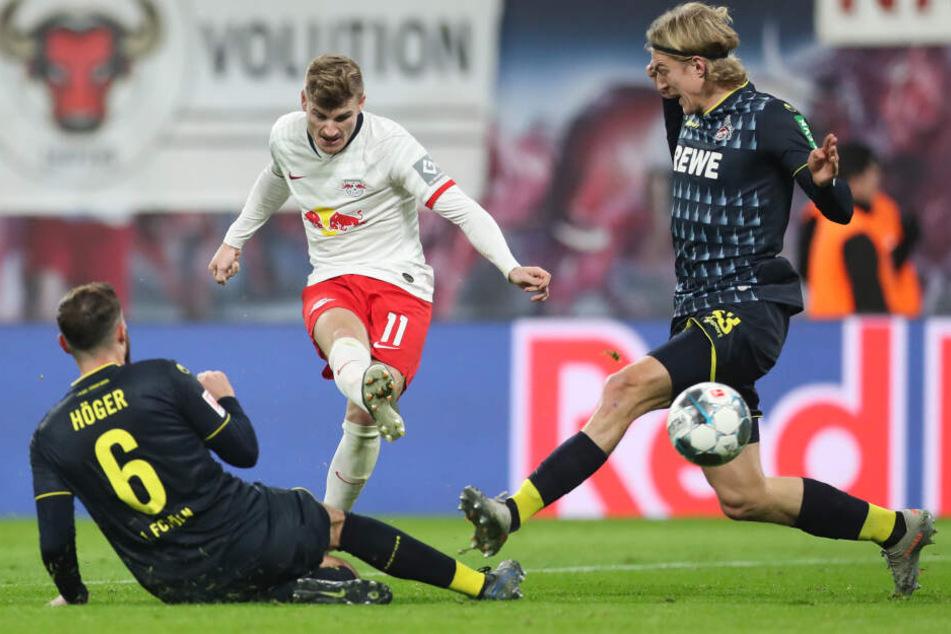 Der Leipziger Timo Werner war mehr als einmal zu schnell für die Kölner Abwehr.