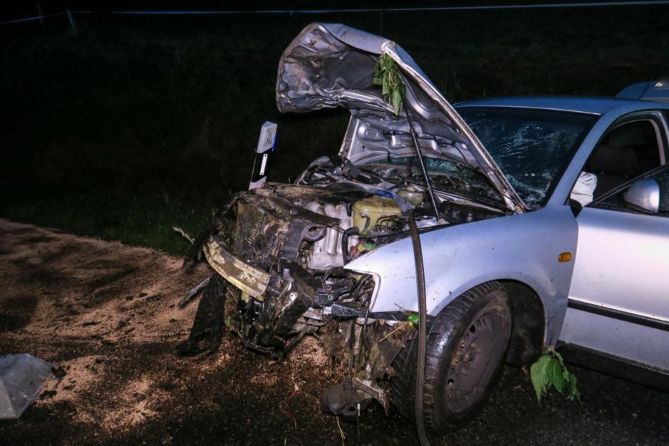 VW landet im Graben: Suff-Crash mit über 2 Promille