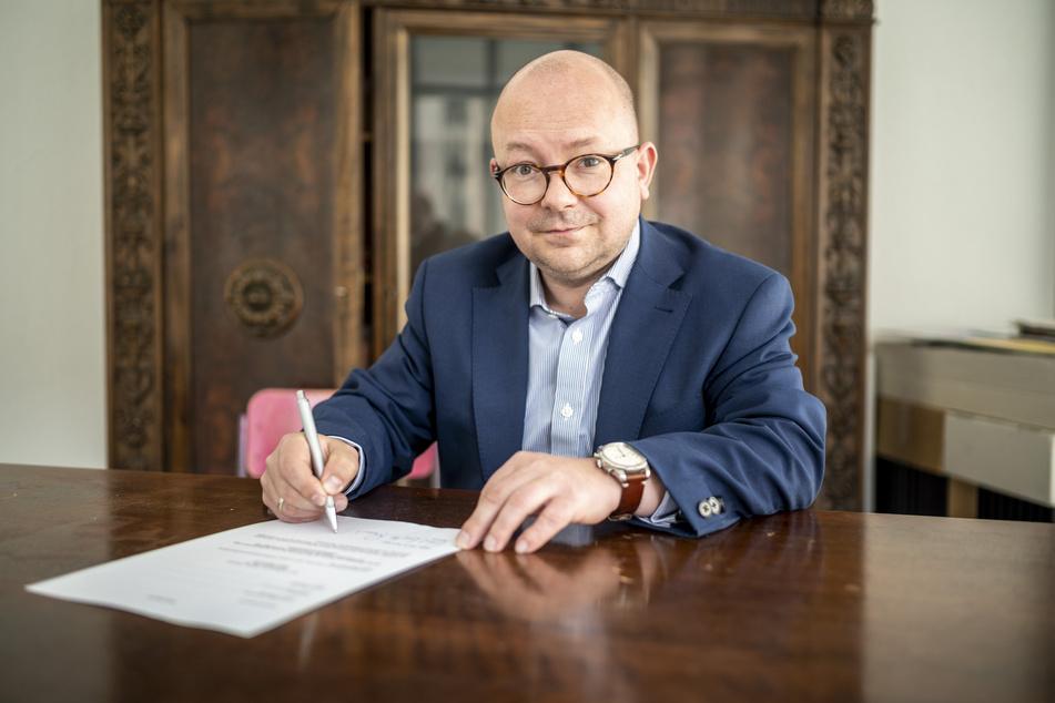 Frank Müller-Rosentritt (38, FDP) unterzeichnet die Klage gegen die aktuelle Corona-Notbremse.