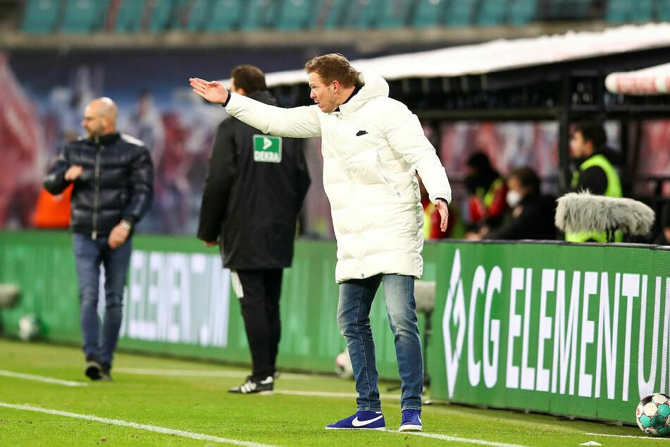 Julian Nagelsmann (33) dürfte nach dem Verfolger-Duell gegen Bayer 04 Leverkusen ordentlich heiser gewesen sein.