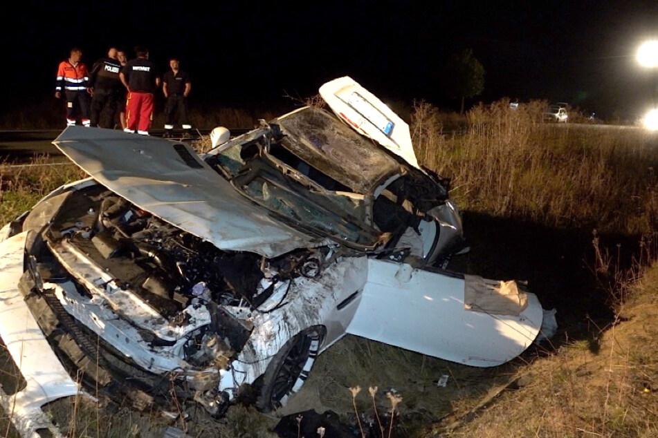 Das Fahrzeug des Unfallopfers wurde bei dem Unfall völlig zerstört.