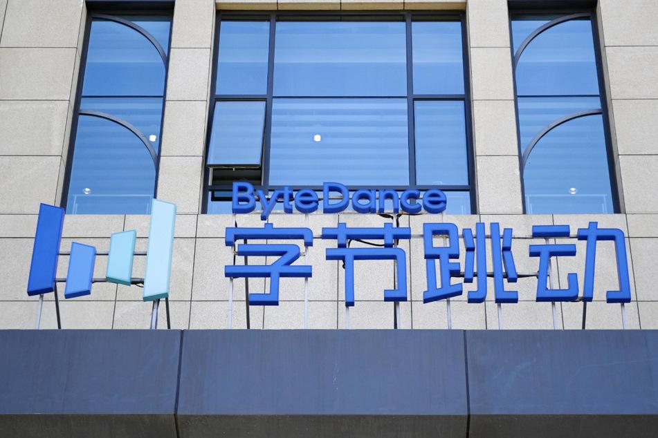 Das Logo des Unternehmens ByteDance Ltd. mit Sitz in Peking, Entwickler von TikTok, einer Social Media Video-App zum Erstellen und Teilen von Kurzvideos.