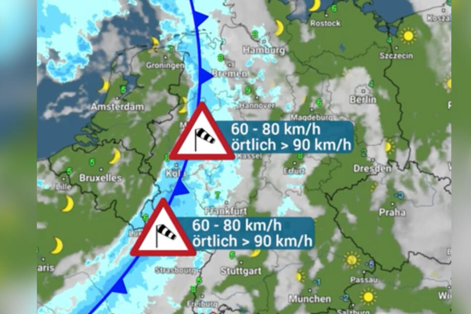 """Am Donnerstag sorgte """"Goran"""" für Sturm, am Freitag kommt Tief """"Hakim""""."""