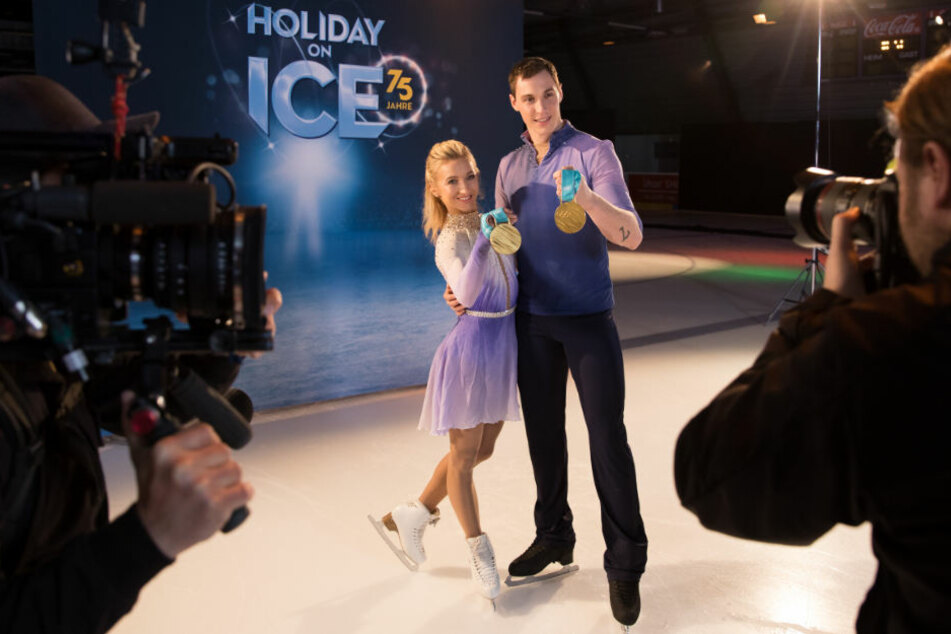 Olympiasieger und Weltmeister im Eiskunstlauf: Aljona Savchenko und Bruno Massot