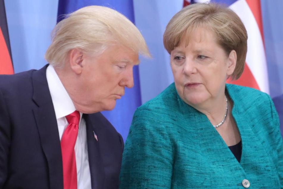 Krisengipfel? Kanzlerin Merkel reist zu US-Präsident Trump
