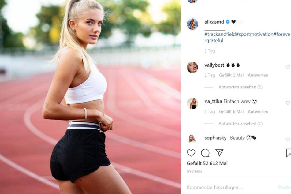 Alica Schmidt verzückt ihre Fans regelmäßig mit persönlichen Einblicken in ihr Leben als Leichtathletin und Studentin.