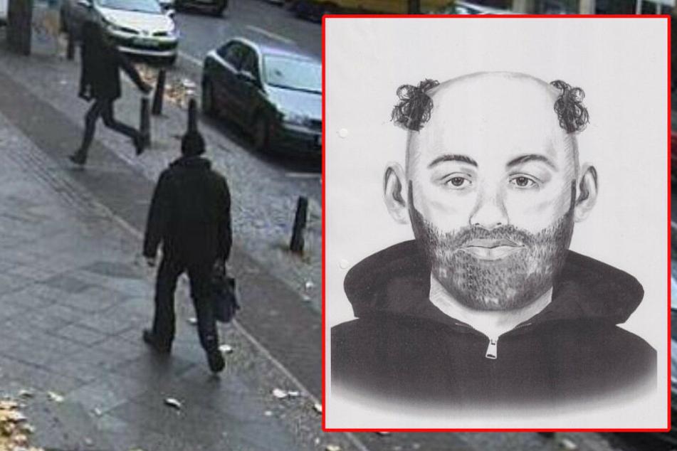 Mit einem Phantombild sucht die Polizei nach dem Mann.