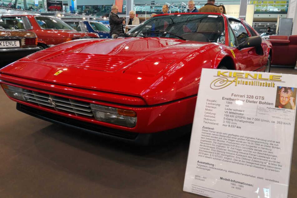 """Diesen heißen Ferrari von Dieter Bohlen könnt ihr gerade auf der """"Retro Classics""""-Messe kaufen!"""