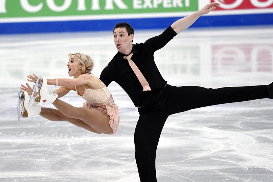 Platz 2 gab's am Mittwoch für Aljona Savchenko und Bruno Massot bei der WM in Helsinki!