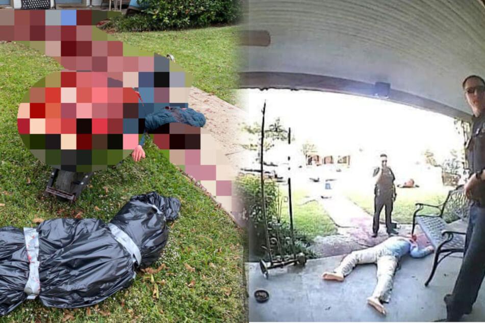 Horror-Szenen im Vorgarten: Verstörte Nachbarn rufen sofort die Polizei