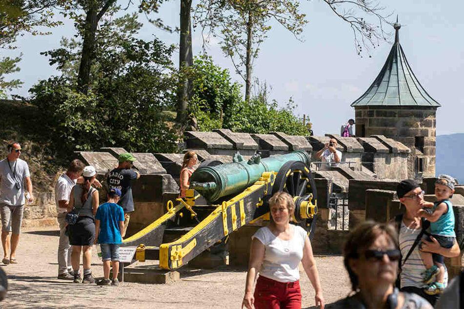 Ohne Kanonendonner geht's auf der Festung Königstein nicht.