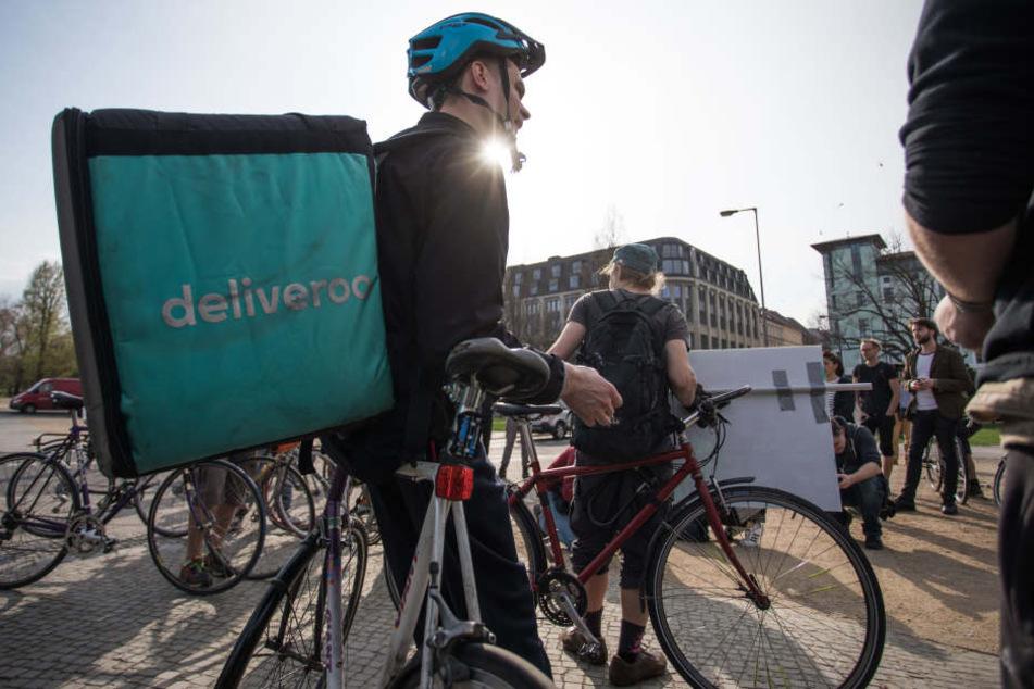 Auch in Berlin protestierten Fahrer gegen das Unternehmen.