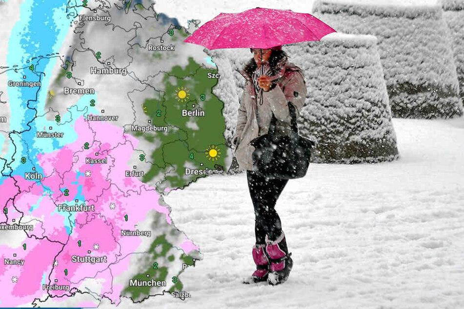 In vielen Teilen Deutschlands muss man mit Niederschlag rechnen.