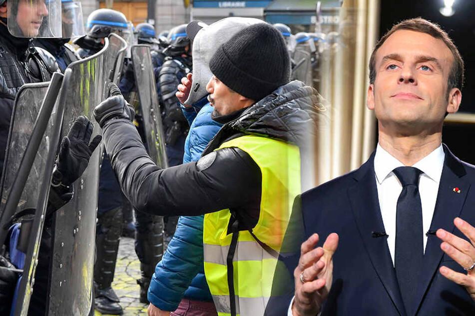 """Macron wegen Gelbwesten: Paris erneut von """"extremer Gewalt angegriffen"""""""