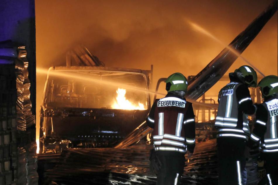 Großbrand in Chemnitz: 500.000 Euro Schaden
