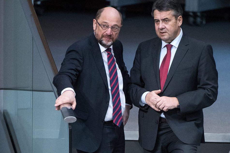 Außenminister Sigmar Gabriel wirft der SPD-Führung Wortbruch vor.