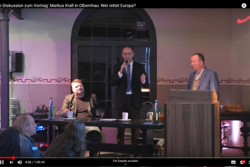 Von der Veranstaltung in Olbernhau gibt es ein Video bei Youtube. Es zeigt auch die Äußerungen Urbans.