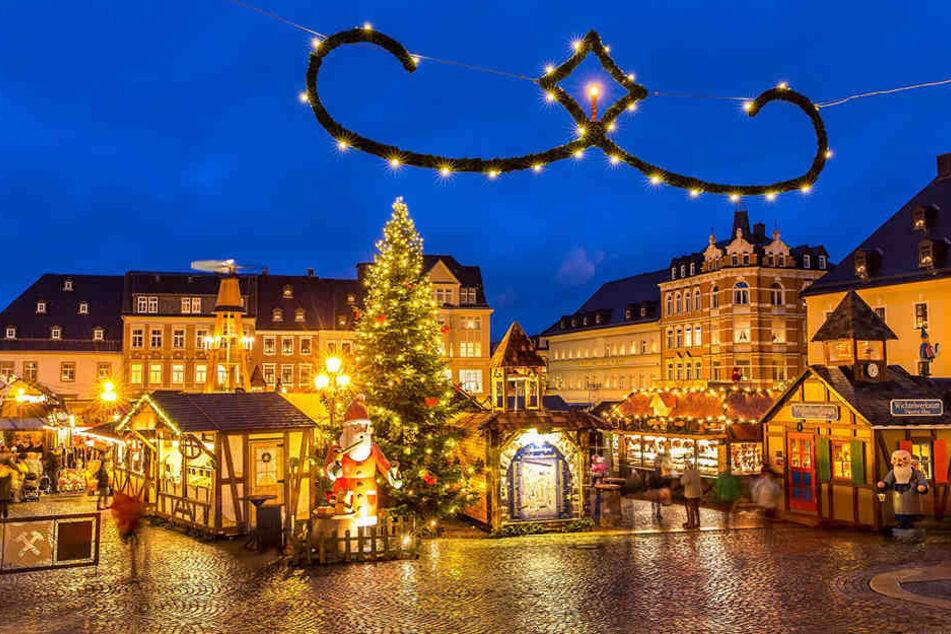 Romantisch! Der Weihnachtsmarkt in Annaberg-Buchholz.