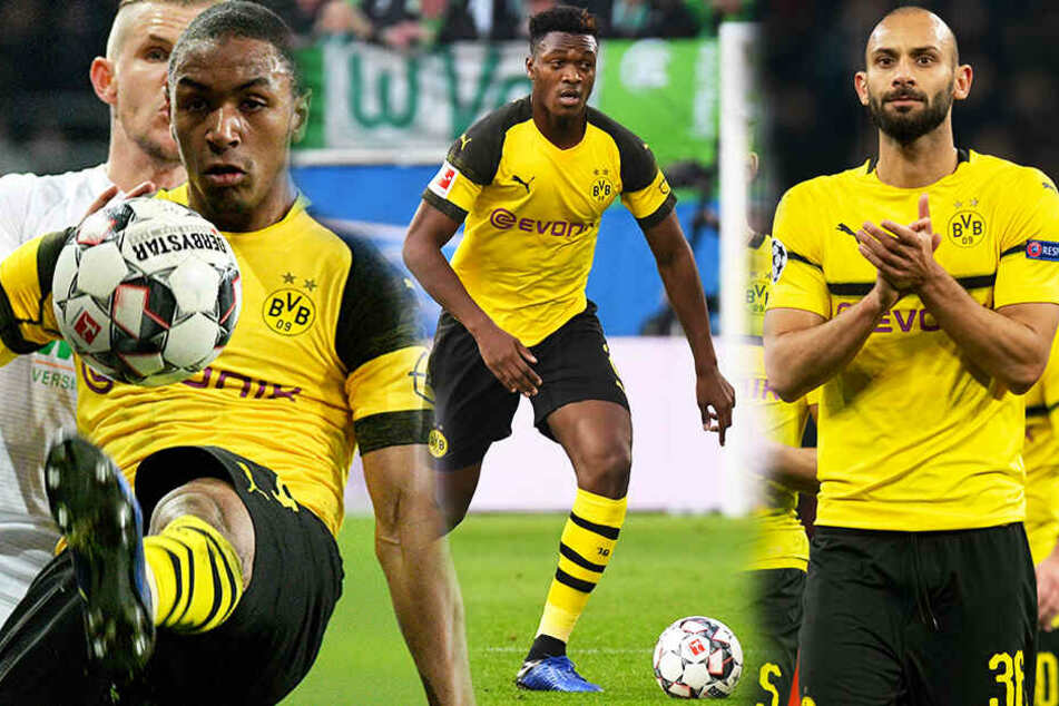 Einer von ihnen könnte den BVB verlassen: Abdou Diallo (l.), Dan-Axel Zagadou (M.) und Ömer Toprak. (Bildmontage)