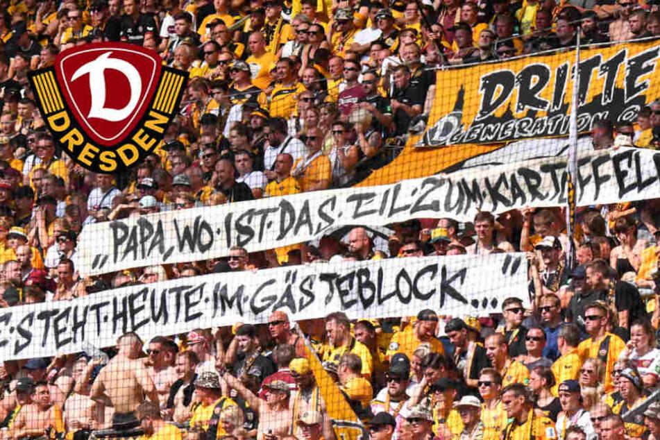 Harte Strafe für Dynamo wegen Bannern und T-Shirts