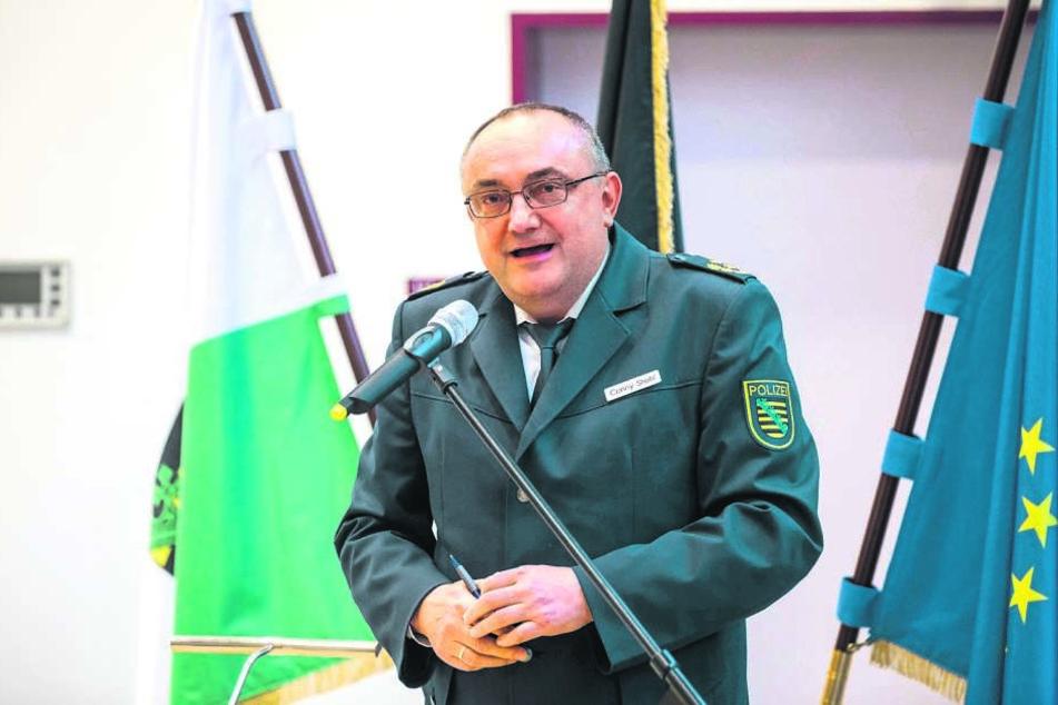 Freut sich über gesunkene Straftaten in der Oberlausitz: Der Görlitzer  Polizeipräsident Conny Stiehl (59).