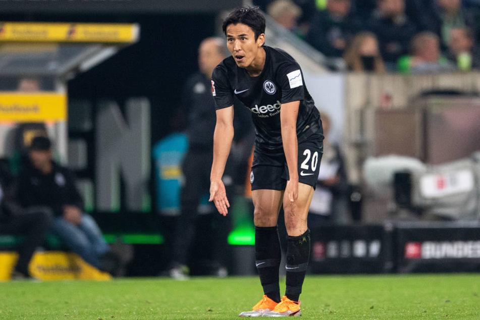 Verstand nach dem Debakel in Mönchengladbach die Welt nicht mehr: Eintracht-Mittelfeldmotor Makoto Hasebe.