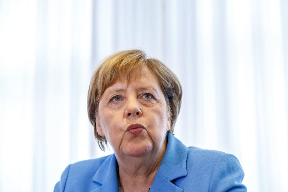 Angela Merkel besuchte am Donnerstag Sachsen.