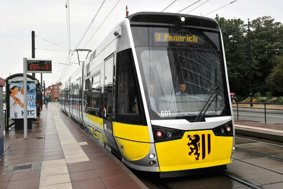 So wie in dieser Fotomontage könnten die neuen bereiteren Straßenbahnen aussehen.