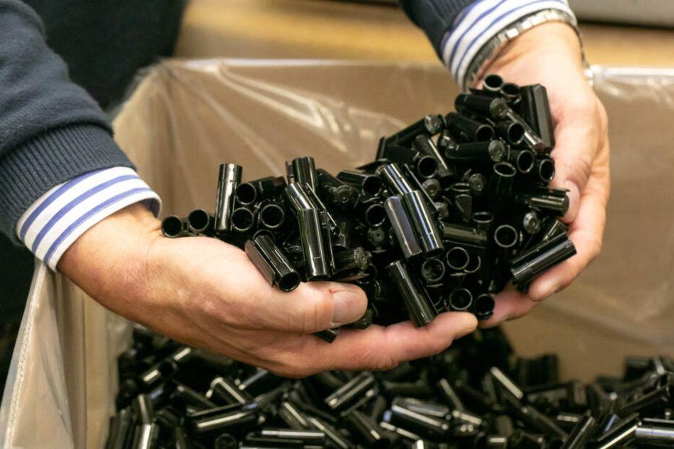 In Bautzen werden auch die Kunststoffbestandteile für die Edding-Stifte hergestellt - viele Millionen pro Jahr.