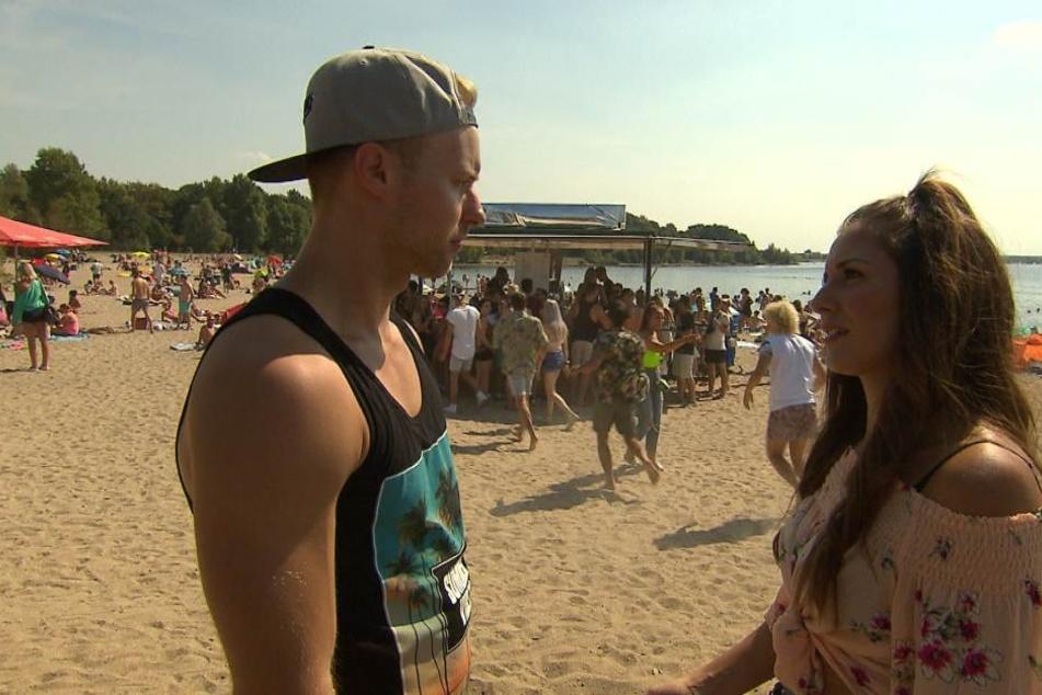 Dennis und die Braut seines Bruders Janette treffen bei einem Festival am Cospudener See aufeinander. Die beiden küssen sich - lässt Janette die Hochzeit sausen?