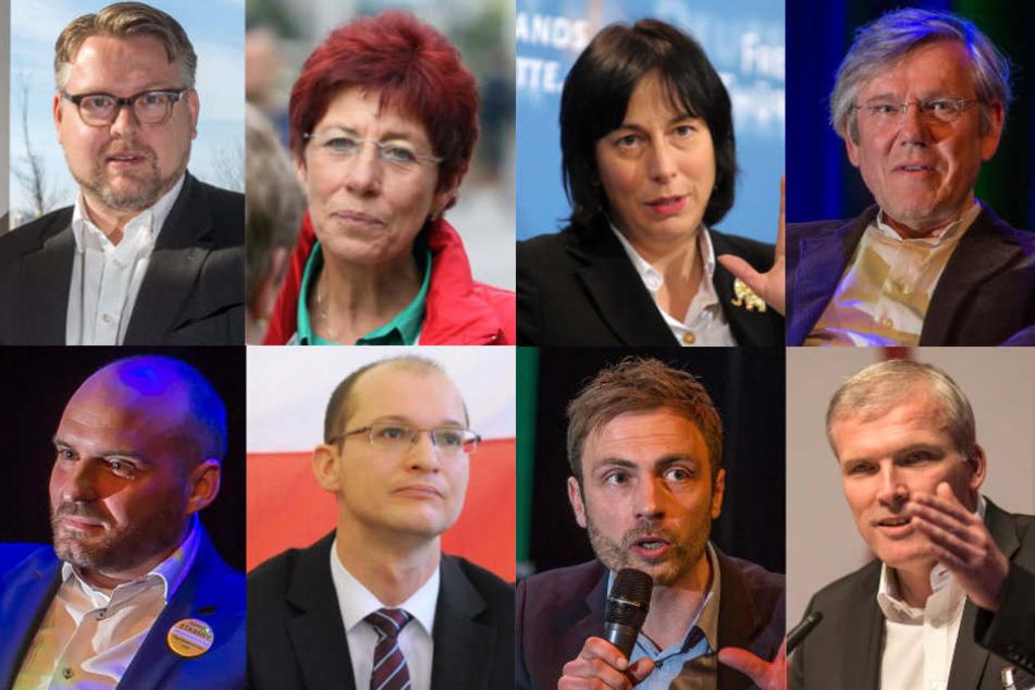 Allein in Erfurt kämpfen acht Kandidaten um das Amt des Oberbürgermeisters.