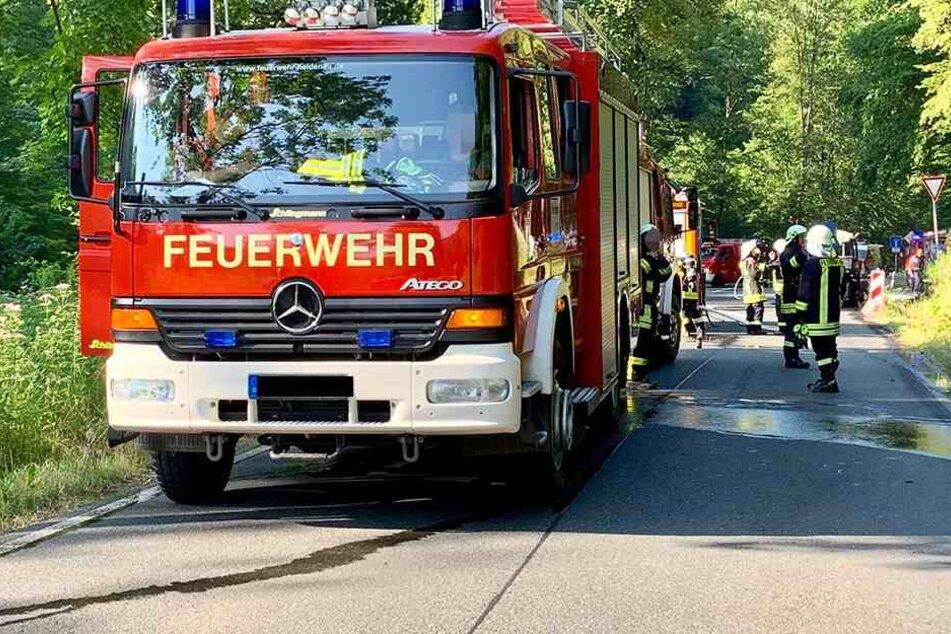 Im Einsatz waren die Feuerwehren von Mühlbach, Maxen, Burkhardswalde, Heidenau, Falkenhain, Pirna, der Kreisbrandmeister und der Rettungsdienst aus Kreischa.