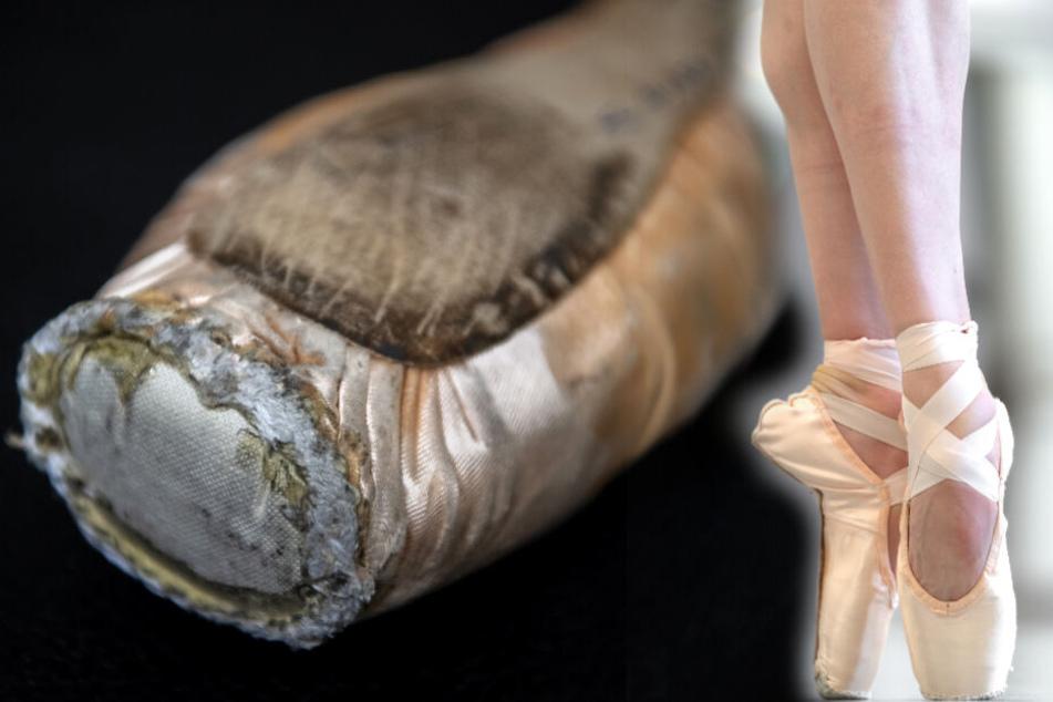 Die Spitzenschuhe einer Ballerina sind Teil ihrer Arbeitskleidung und müssen genau angepasst werden.