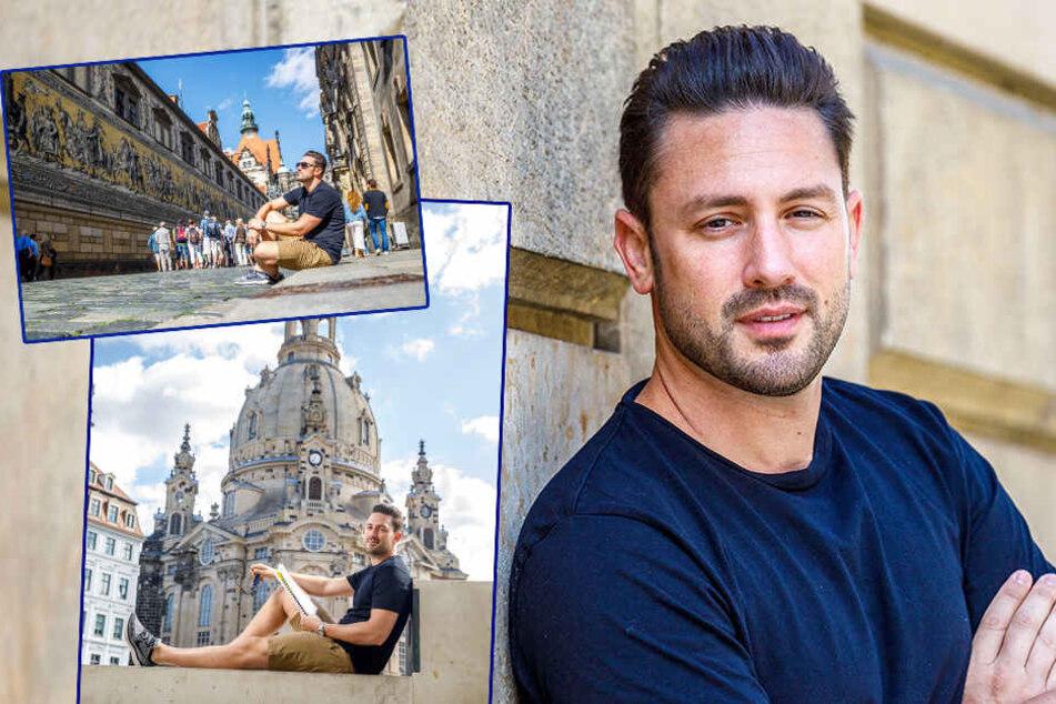 Ex-Bachelor Daniel Völz auf Tour in Dresden: Seine besondere Verbindung zur Frauenkirche