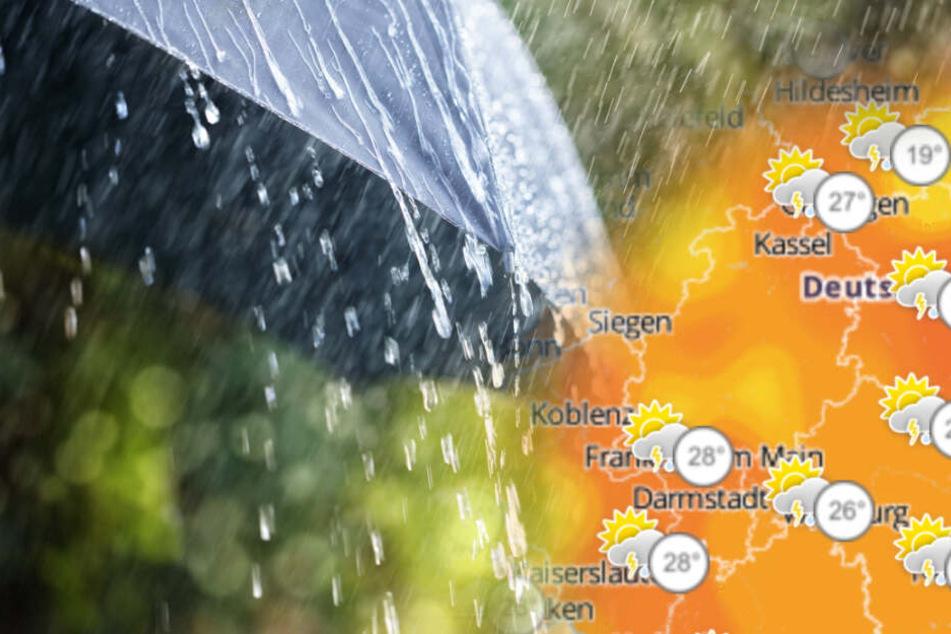 Jetzt wird's ungemütlich! Gewitter und Starkregen in Hessen erwartet