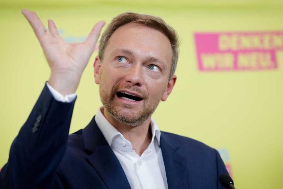 Der FDP-Spitzenkandidat Christian Lindner (38).