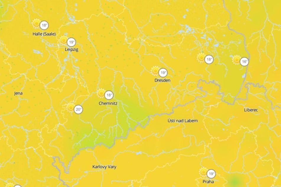 Am Dienstag wird es in ganz Sachsen schön, mit viel Sonne und Temperaturen bis 19 Grad.