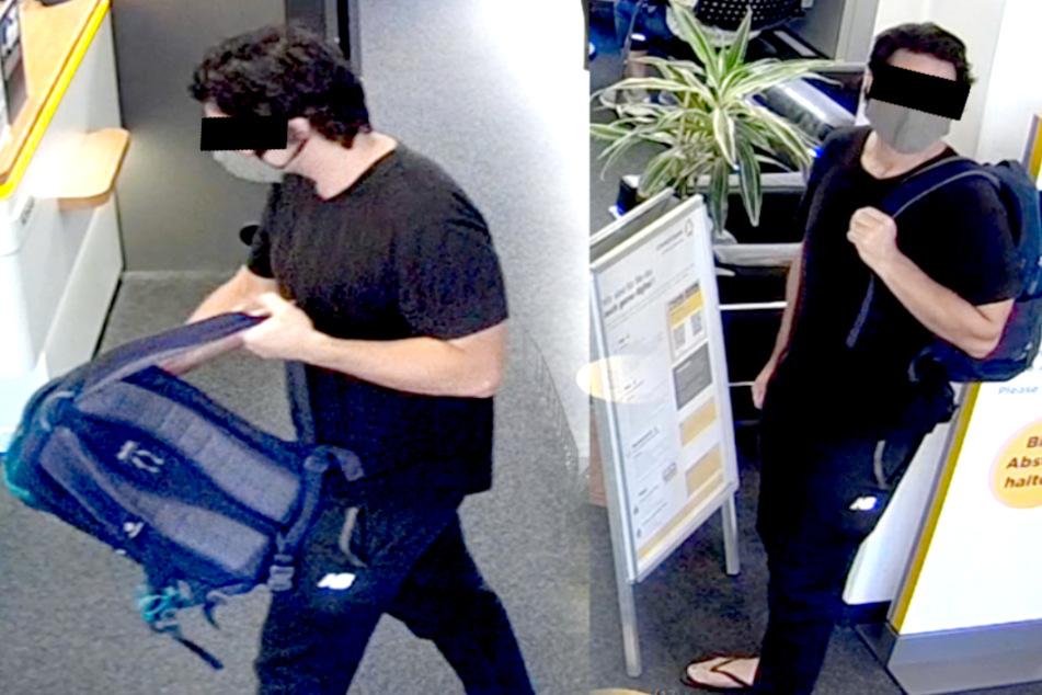 Die Polizei fahndet mit Fotos nach dem mutmaßlichen Täter.