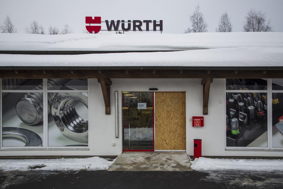 In dieser Würth-Niederlassung stahlen Einbrecher innerhalb kürzester Zeit Werkzeuge im Wert von bis zu 10.000 Euro.