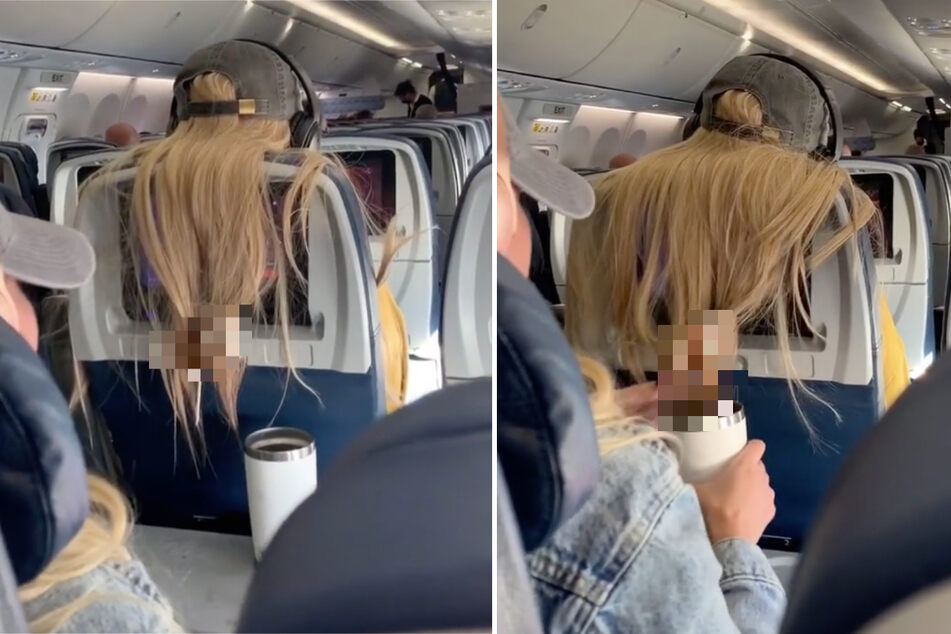 Hairy situation in viral TikTok video: did this woman's in-flight revenge go too far?