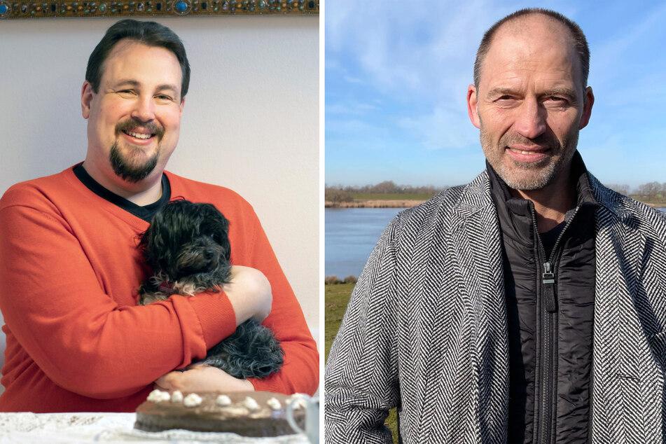 Arne (40, l.) aus Oberbayern und Andy (49) aus Ostfriesland.
