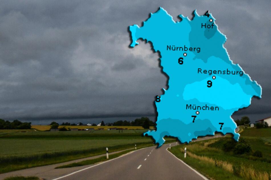 Ungemütliches Wochenende: Wolken und Regen in Bayern