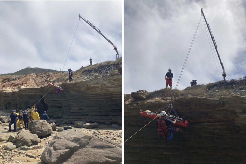 Responders even made a cliff rescue (collage).