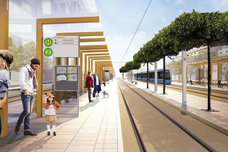Riesige Baustelle Romanplatz: Das kommt auf Anwohner, Fahrgäste und Autofahrer zu