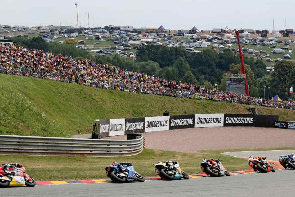 Seit 1998 findet der Grand Prix von Deutschland auf dem neuen Sachsenring statt.