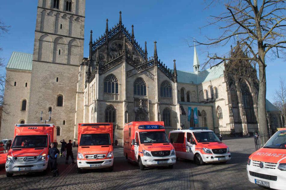 Dutzende Krankenwagen waren bei der Amok-Fahrt in Münster im Einsatz.