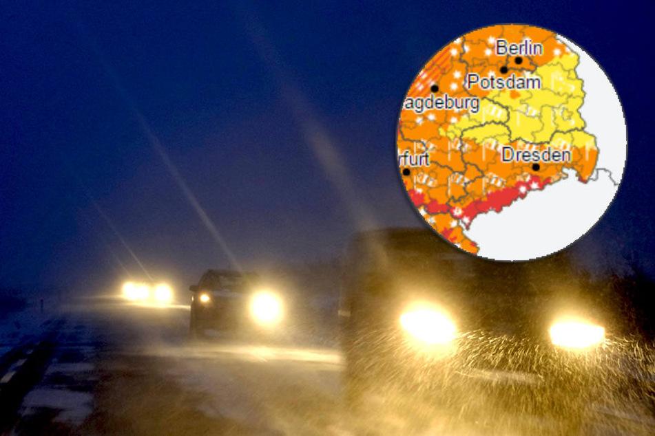 Dabei könnten im Harz und im Thüringer Wald bis zum Mittag 20 Zentimeter Neuschnee fallen.