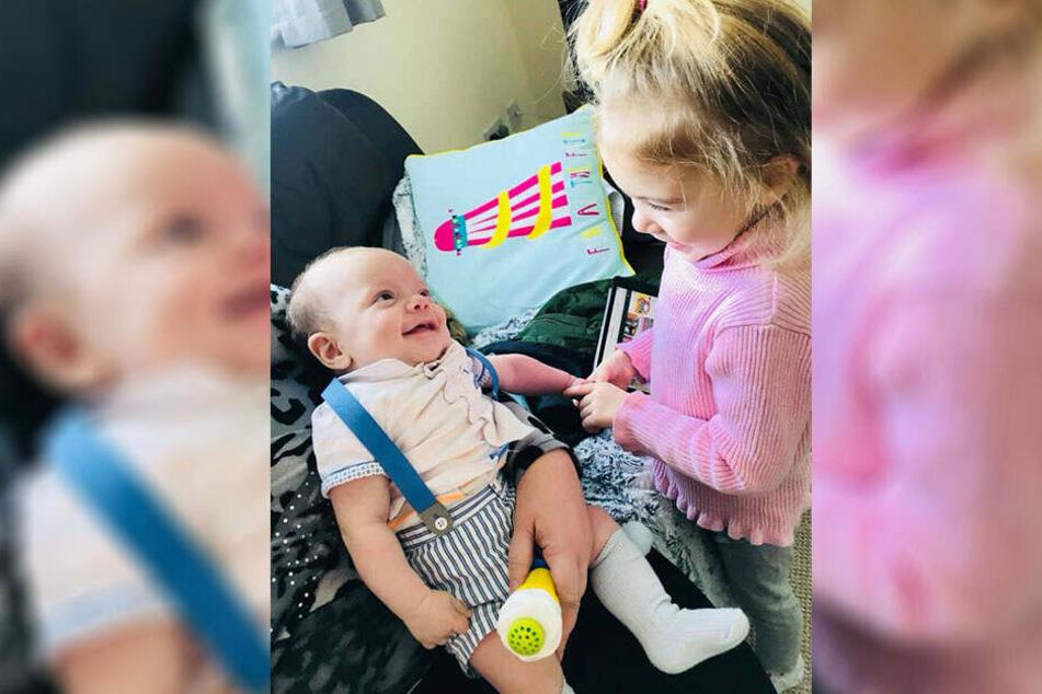 Thalia-Beau und ihr kleiner Bruder Rudy Blu.