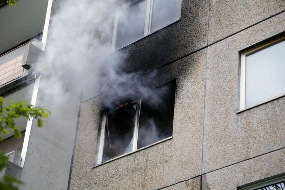 In einer Wohnung war ein Feuer ausgebrochen.