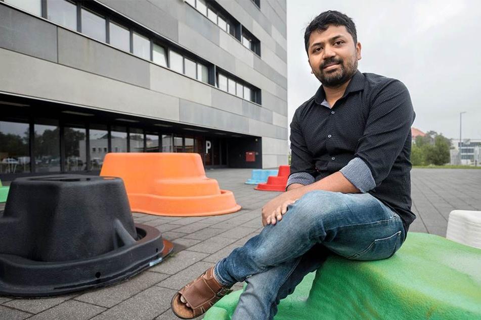 """""""Chemnitz ist keine rechte Stadt"""": Mahfujur Rahaman (32) aus Bangladesch lebt weiter gern hier."""